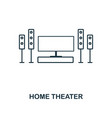 home theater icon thin style design from vector image