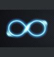 infinite shining symbol vector image vector image