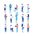 isometric 3d people set vector image