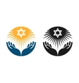 Judaism logo Star of David or Religion vector image vector image
