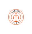 lantern vintage logo inspiration in gold metallic vector image vector image