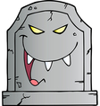 Laughing Evil Headstone vector image