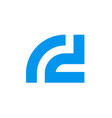 letter r d logo initial alphabet rd vector image vector image