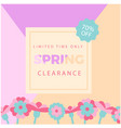 limited time only spring clearance 70 off colorfu vector image