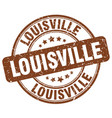 louisville brown grunge round vintage rubber stamp vector image vector image