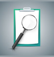 loupe a4 paper tablet icon vector image vector image