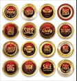 luxury retro badge and labels collection 03 vector image
