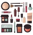 Makeup tools isolated vector image vector image