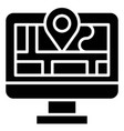 map and location telecommuting or remote work icon vector image vector image