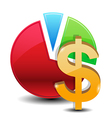 money graphs icon vector image vector image