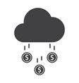 money rain icon vector image