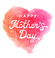 mother day greeting card with flower and lettering vector image vector image