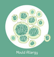 Mould allergy for medical vector image