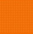 orange plastic construction plate perfect vector image vector image