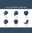 pride icons vector image vector image