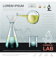 realistic chemical experiment template vector image vector image