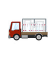 red truck with glass on a white background vector image