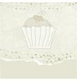 Retro Cupcakes Card vector image vector image