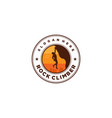 rock climber vector image