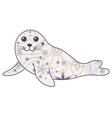Seal pup vintage vector image vector image