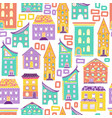 seamless house pattern new-06 vector image vector image