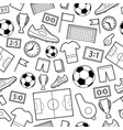 seamless pattern of football symbols vector image vector image