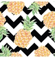 Seamless pattern with pineapple in vector image vector image
