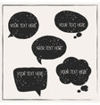 set abstract retro grunge speech bubbles vector image