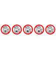 set age restriction signs age limit concept vector image vector image