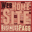 So That s What Goes On A Home Page text background vector image vector image