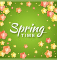 spring time banner background with paper flowers vector image vector image