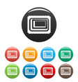 sweet bakery icons set color vector image
