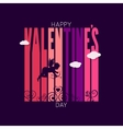 valentines day design background vector image