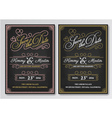 Vintage chalkboard save the date wedding vector image vector image