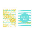 wedding card invitation with dots and sequins vector image vector image