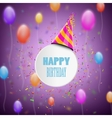 Happy Birthday Composition With Blur Background vector image