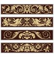 Victorian Ornamental Vintage Decoration Border vector image