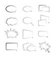 book speech bubble symbol set vector image