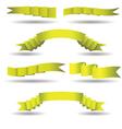 set of yellow banners vector image