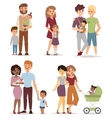 Different family vector image