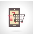 Mobile store flat color icon vector image