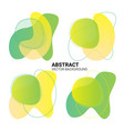 abstract freeform in yellow-green color gradient vector image vector image