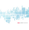 abstract white geometric square border on blue vector image vector image