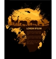 Africa travel design template vector image vector image