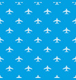 aircraft pattern seamless blue vector image vector image