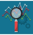 Analitycs search and SEO graphic vector image vector image