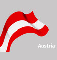 background with austria wavy flag vector image vector image