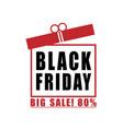 black friday big sale background vector image