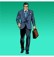 businessman goes forward vector image vector image
