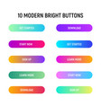 call to action web buttons set gradient and vector image vector image